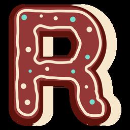 Pan de jengibre letra r