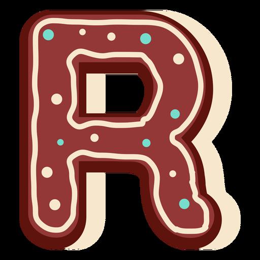 Gingerbread letter r