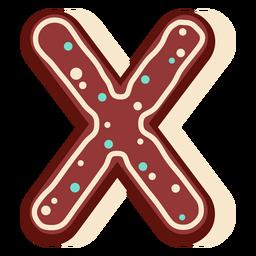 Pan de jengibre letra x