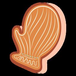 Glove gingerbread cookie