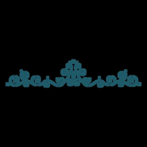 Divisor de adorno verde Transparent PNG
