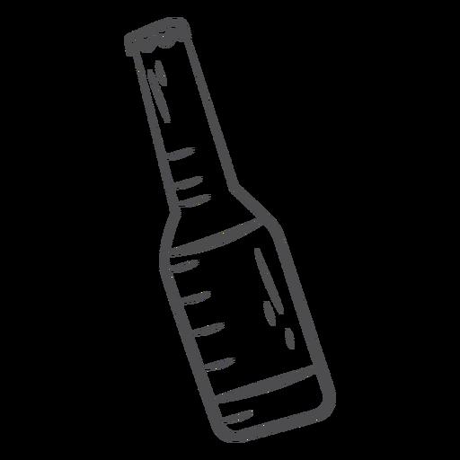 Hand drawn beer bottle Transparent PNG