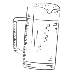 Hand drawn beer mug drink