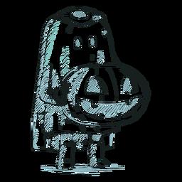 Hand drawn character halloween kid
