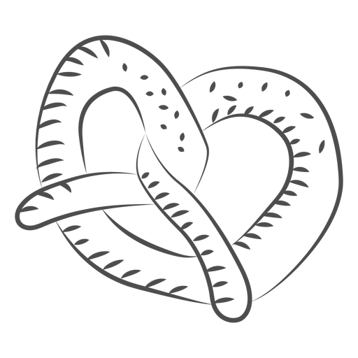 Hand drawn food pretzel Transparent PNG