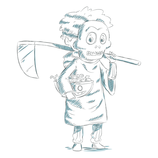 Hand drawn kid character death Transparent PNG
