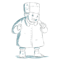 Dibujado a mano personaje infantil frankenstein