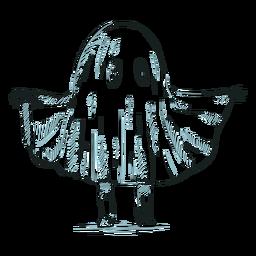 Fantasma de personagem de criança desenhada de mão