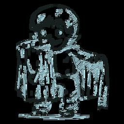 Dibujado a mano vampiro personaje infantil