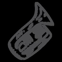 Hand drawn trumpet