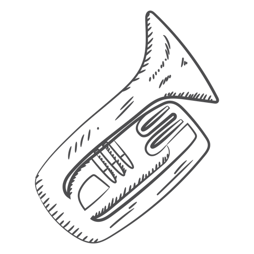 Hand drawn trumpet Transparent PNG