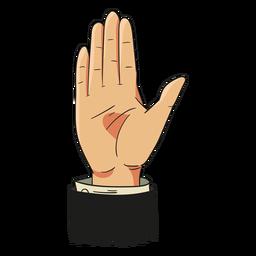 Ilustración de la mano