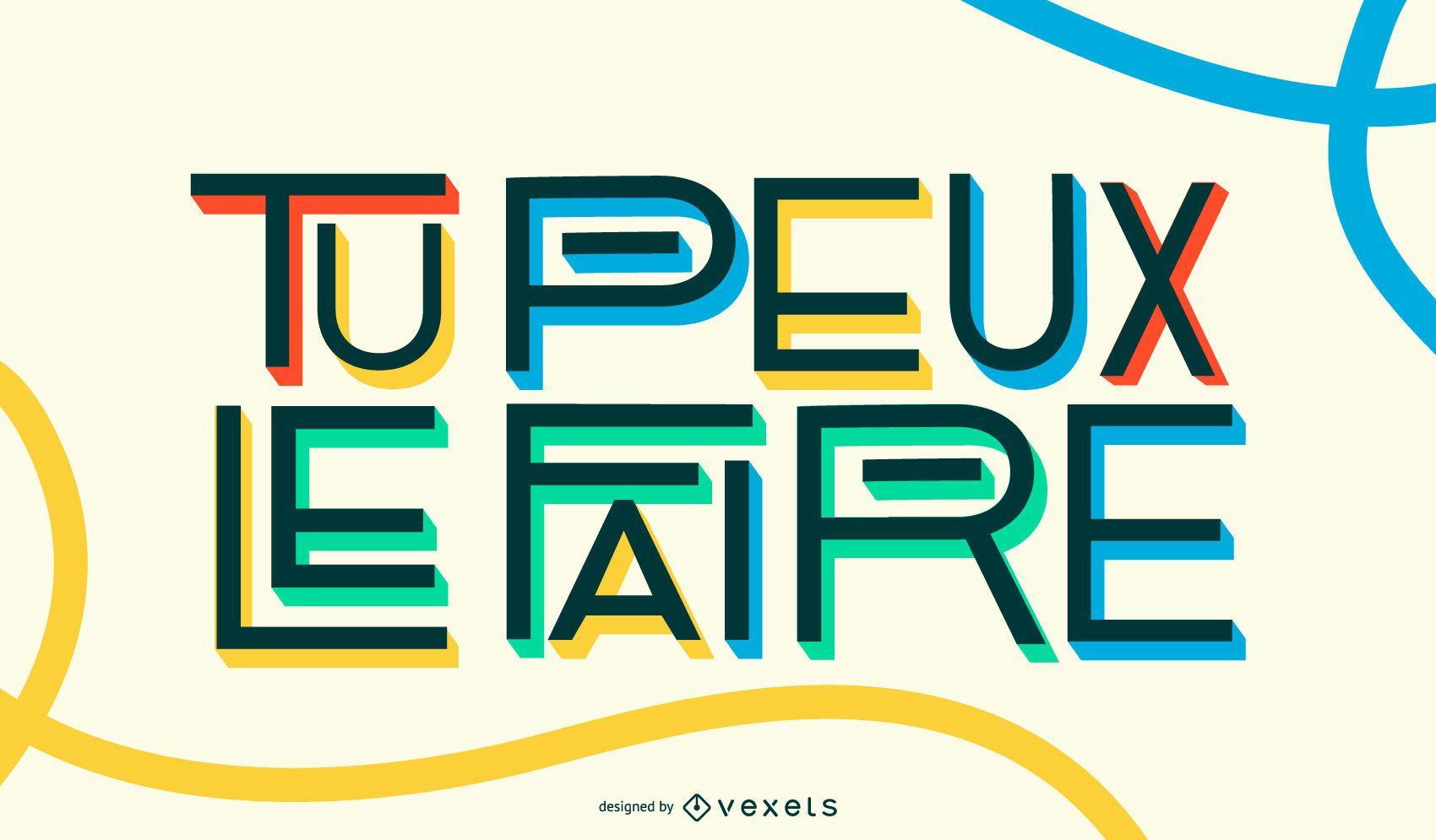 Puedes hacerlo Diseño de cotización en francés