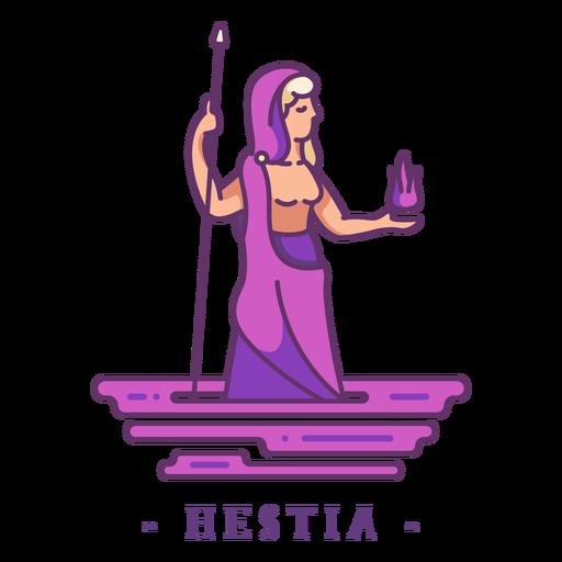 Hestia greek god character Transparent PNG