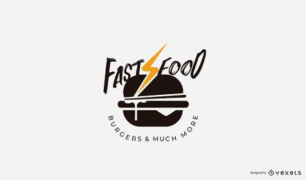 Modelo de logotipo de hambúrguer de fast-food
