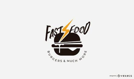 Plantilla de logotipo de hamburguesa de comida rápida