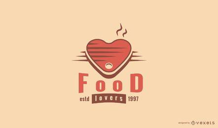 Modelo de logotipo de amantes de comida
