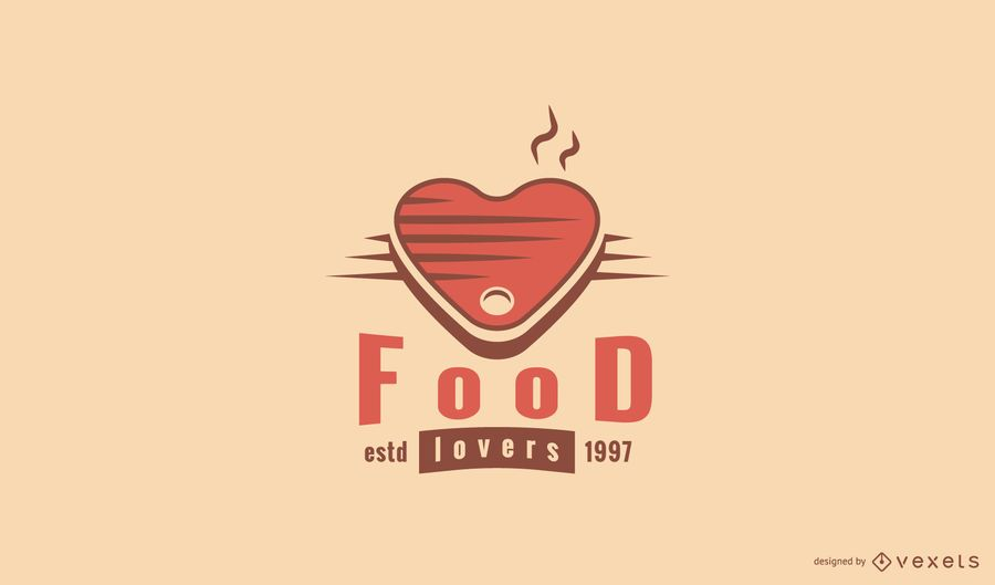 Food lovers logo template