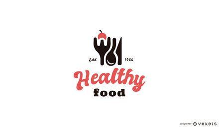 Modelo de logotipo de comida saudável