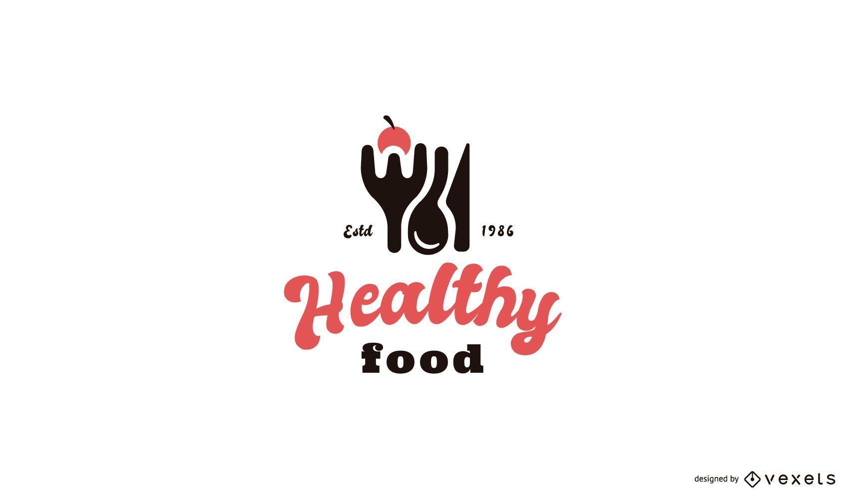 Plantilla de logotipo de comida saludable