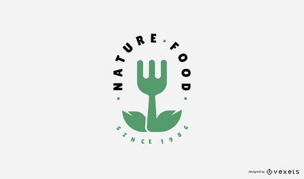 Plantilla de logotipo de comida natural