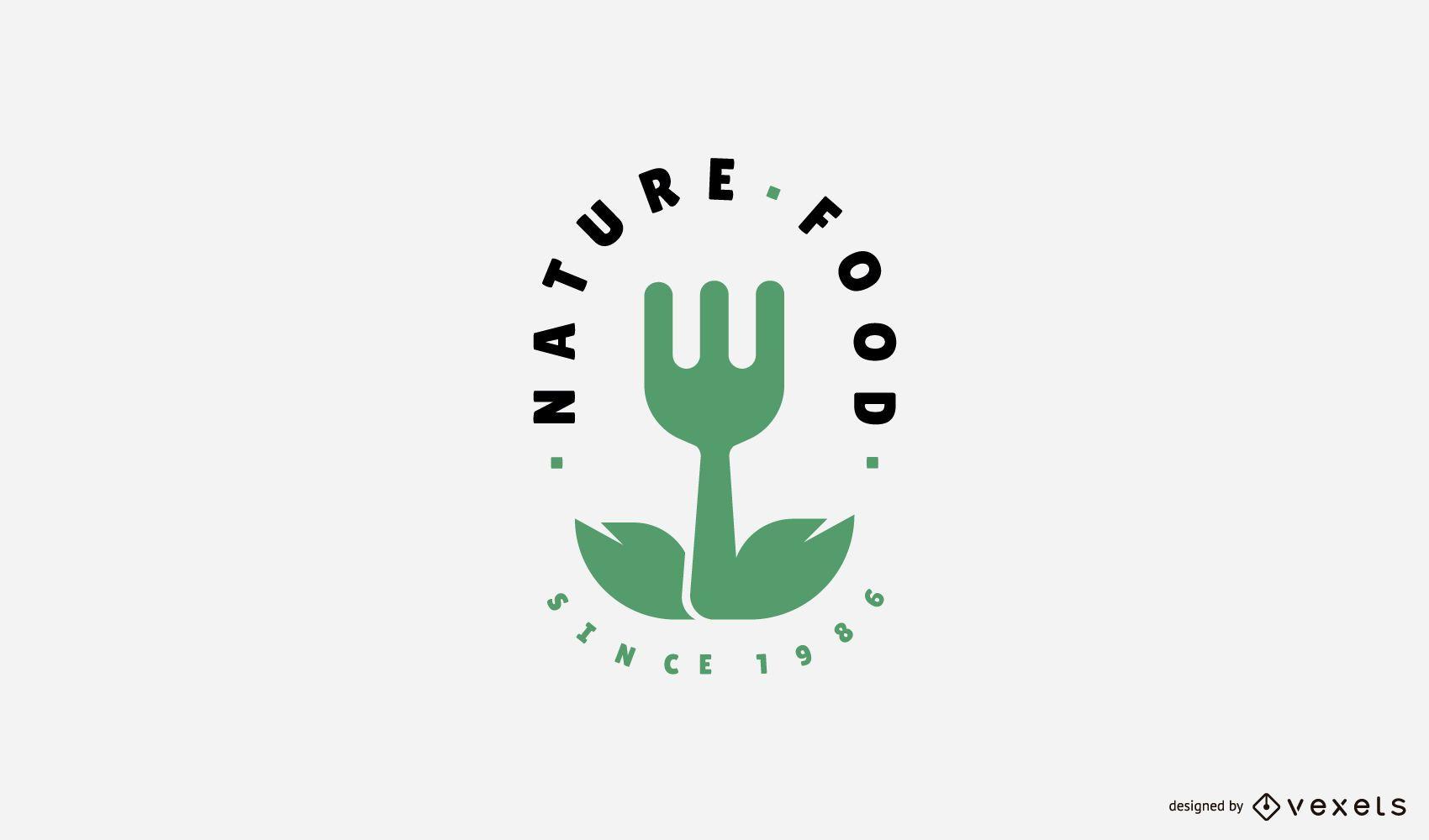 Naturnahrungsmittel-Logo-Vorlage