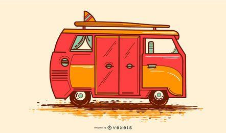 Diseño de ilustración de VW Camper