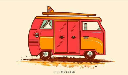 VW Camper Illustration Design