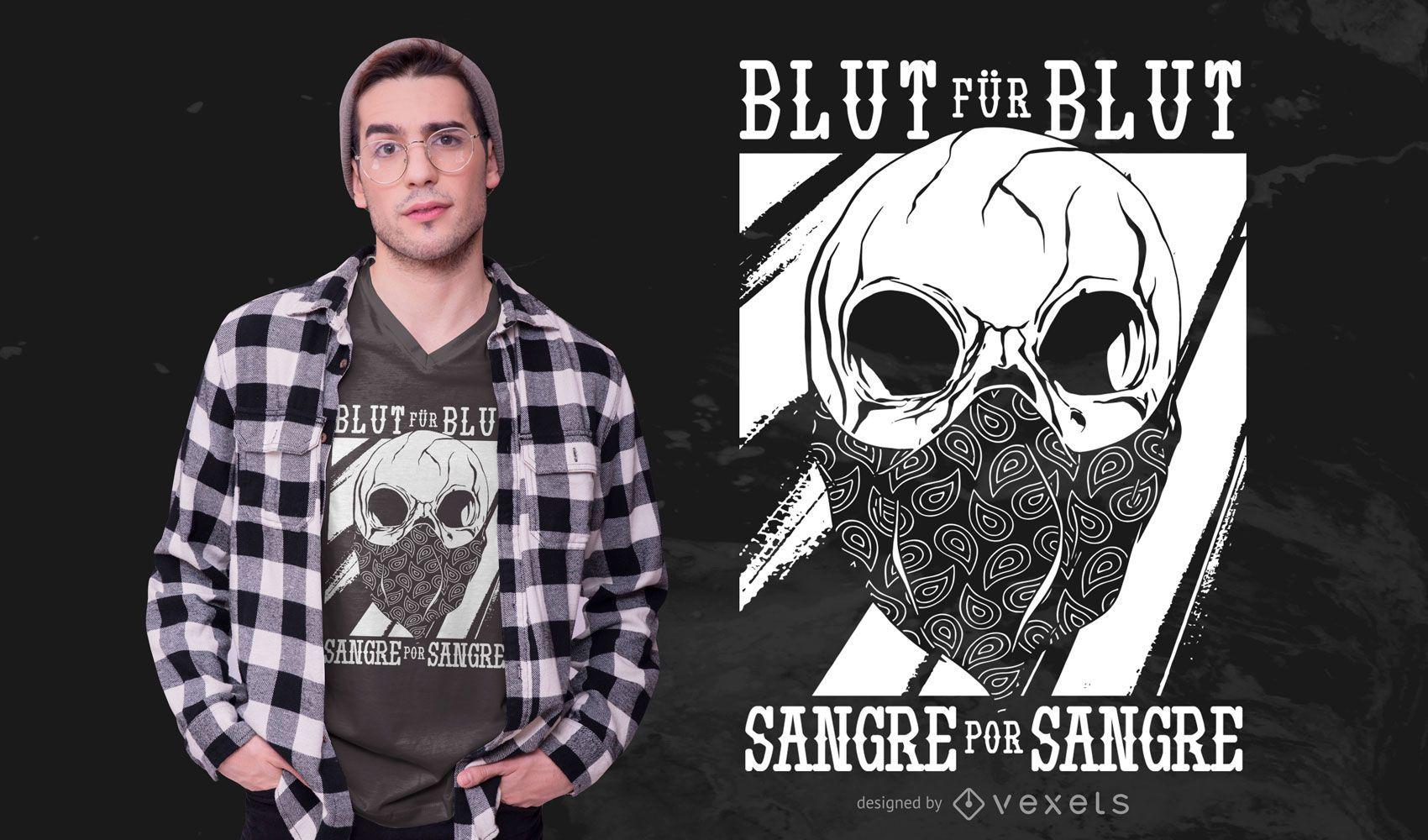 Diseño de camiseta Skull Quote