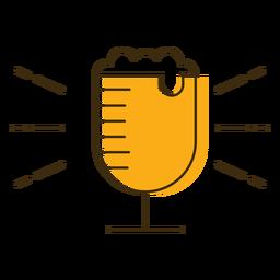 Vaso de cerveza icono