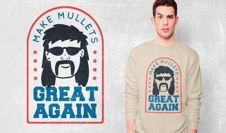Mullet Zitat T-Shirt Design