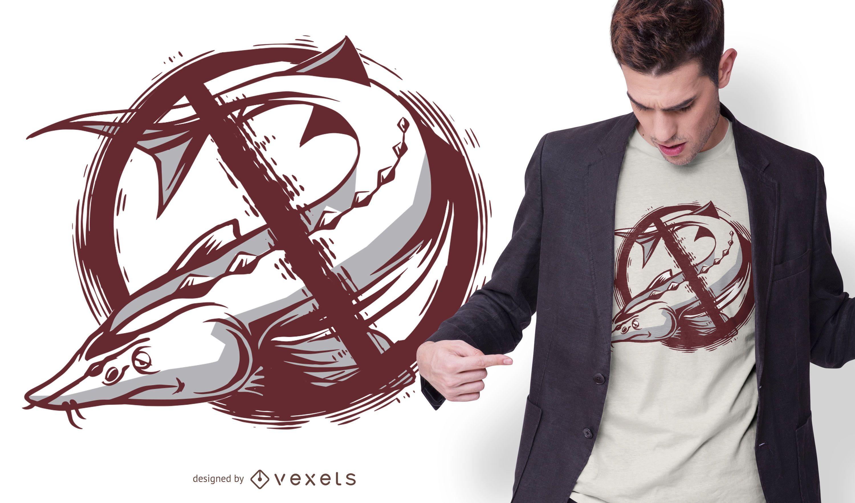 Diseño de camiseta sin esturión