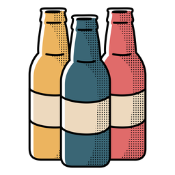 Icon beer bottles design