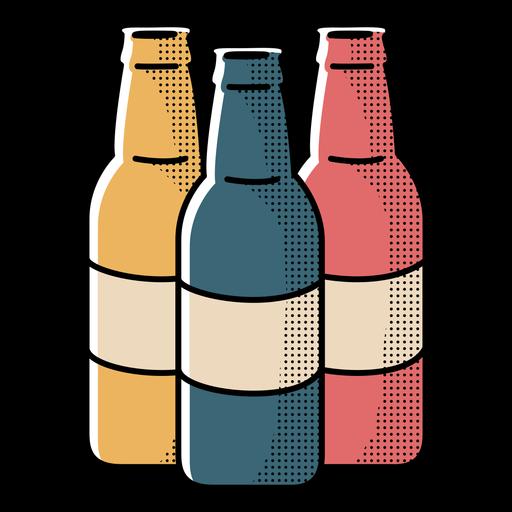 Icon beer bottles design