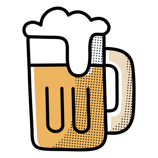 Diseño de jarra de cerveza icono