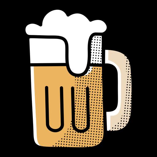 Icon beer mug design