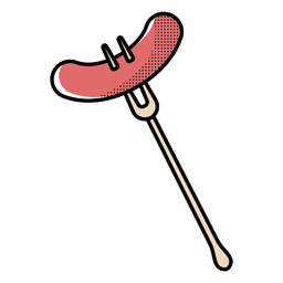 Icon forked sausage