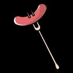 Icono de salchicha bifurcada