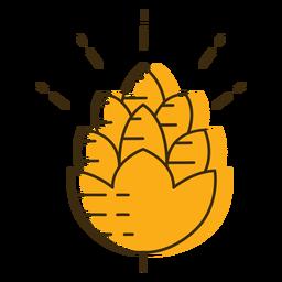 Grano de lúpulo de icono