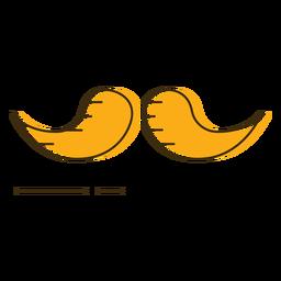 Icon moustache
