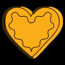 Coração de biscoito ícone oktoberfest