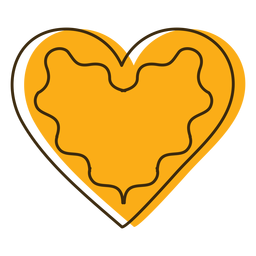 Icono corazón de galleta oktoberfest