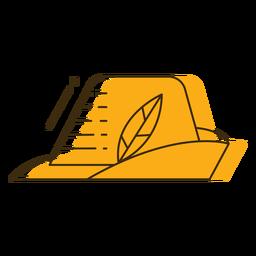 Sombrero de oktoberfest de icono