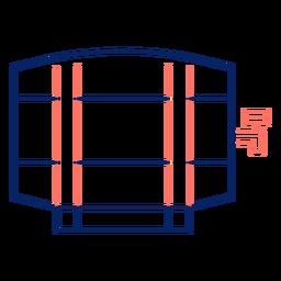 Icono de barril de trazo oktoberfest