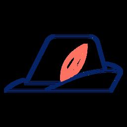 Chapéu de traçado de oktoberfest de ícone