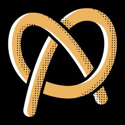 Comida de pretzel de icono
