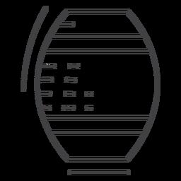 Icon stroke barrel keg