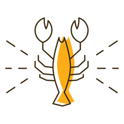 Icon stroke crawfish