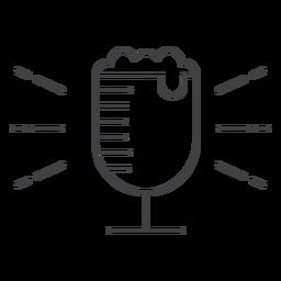 Icon stroke cup