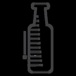 Botella de bebida de trazo de icono